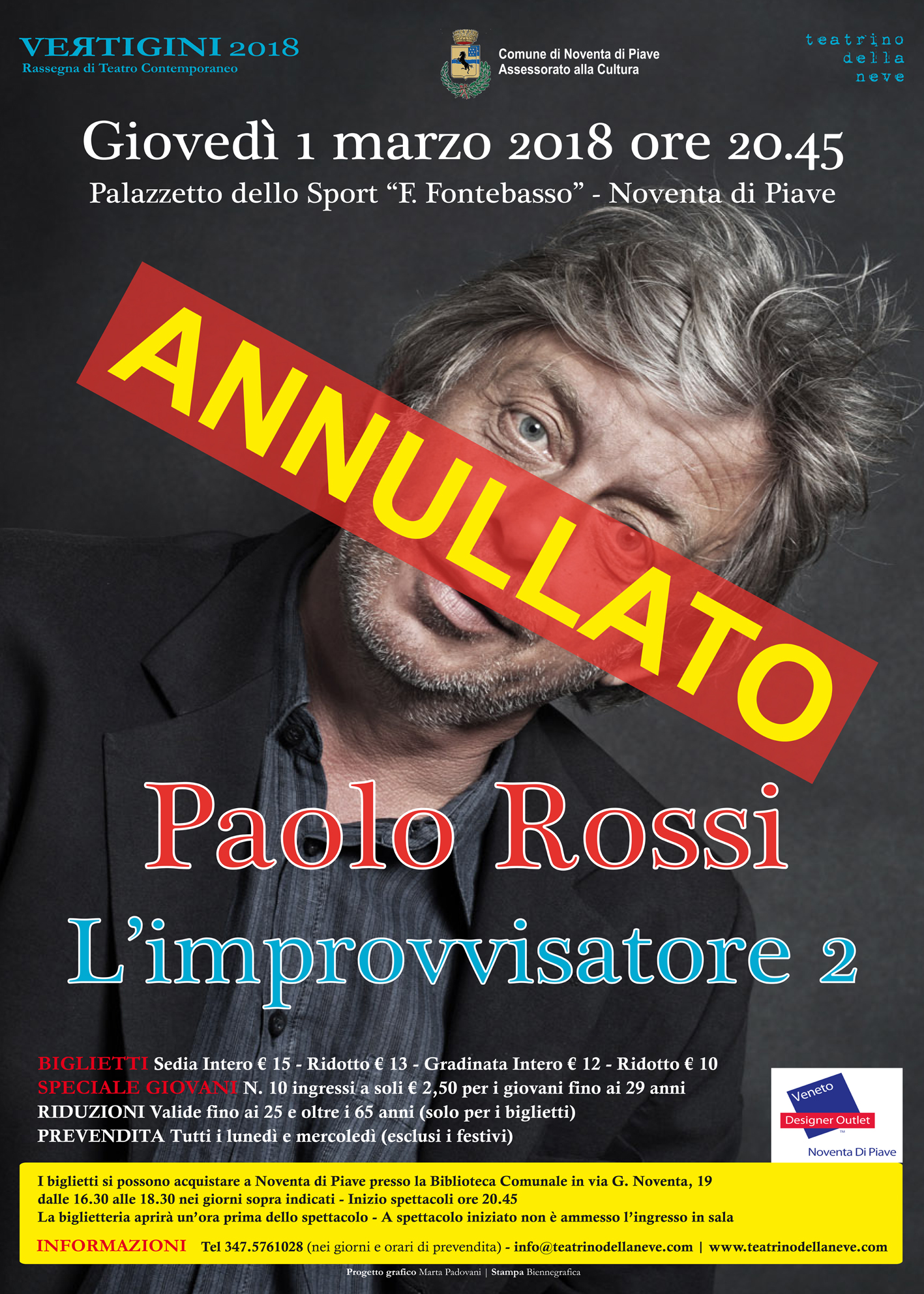 ANNULLATO Paolo Rossi in L\'IMPROVVISATORE 2 - www.teatrinodellaneve.com