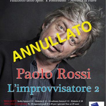 ANNULLATO Paolo Rossi in L'IMPROVVISATORE 2